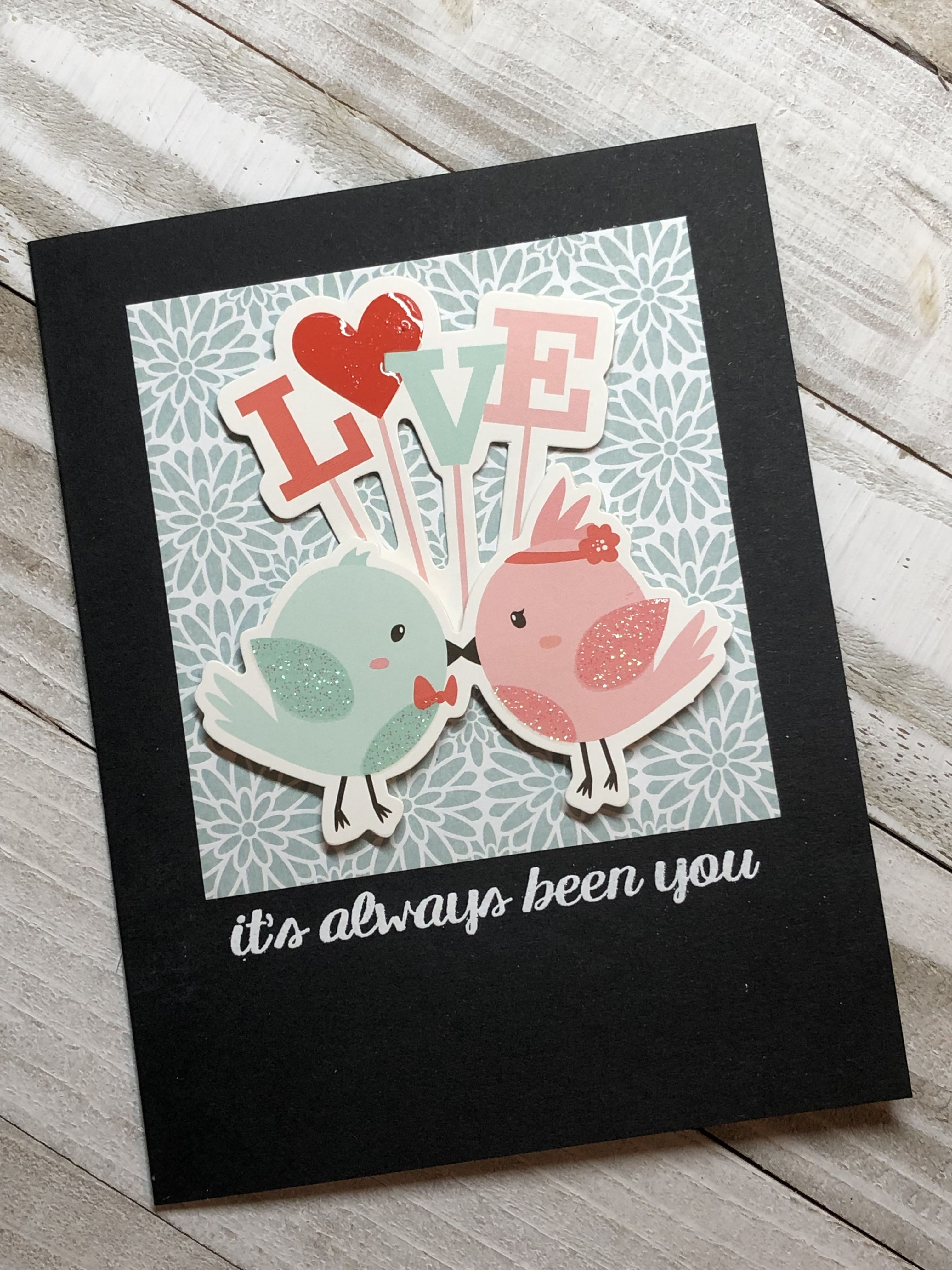 Love Card Spellbinders January 2019 You Re My Type Card Kit