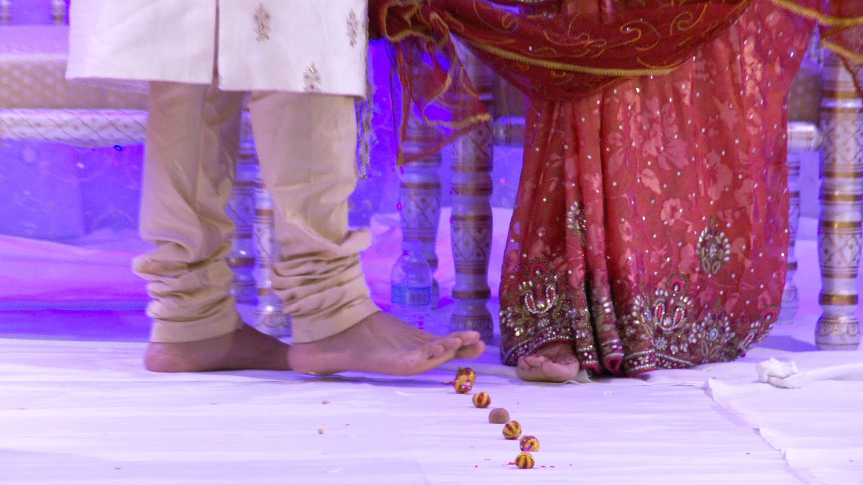 The Seven Steps or 7 Blessings Ceremony An Indian Hindu Wedding Ceremony