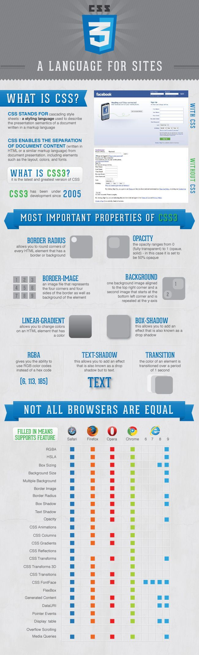 Educational Infographic Css3 Infographic Web Design Web Design Tips Web Development Design
