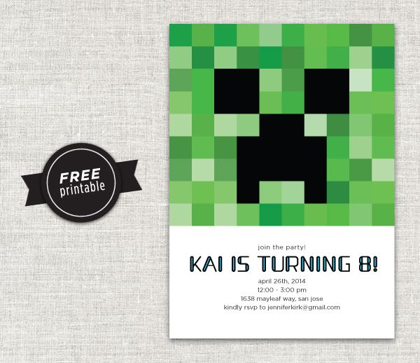 Minecraft Invitation Download ({ Ambrosia Creative ...