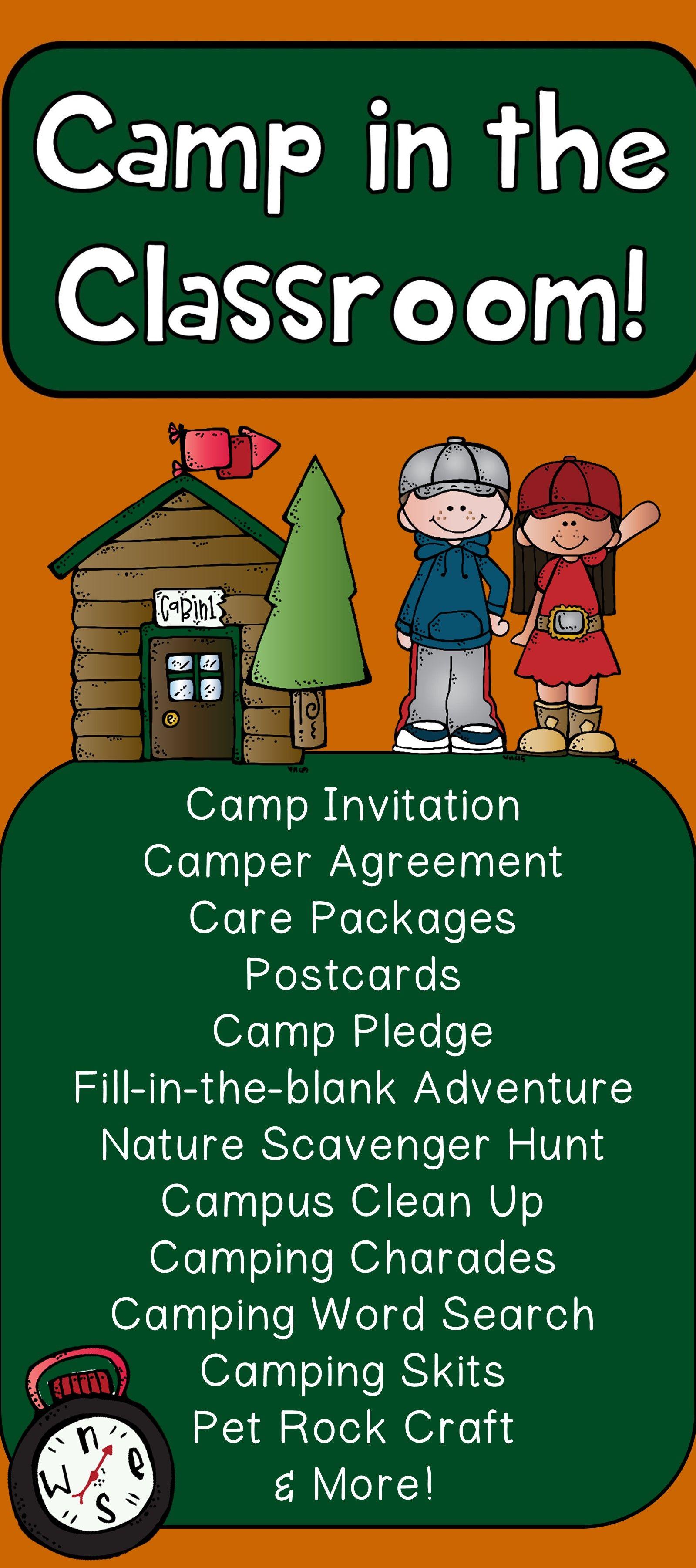 Camping Kindergarten Math & Literacy Printables   Camping theme ...