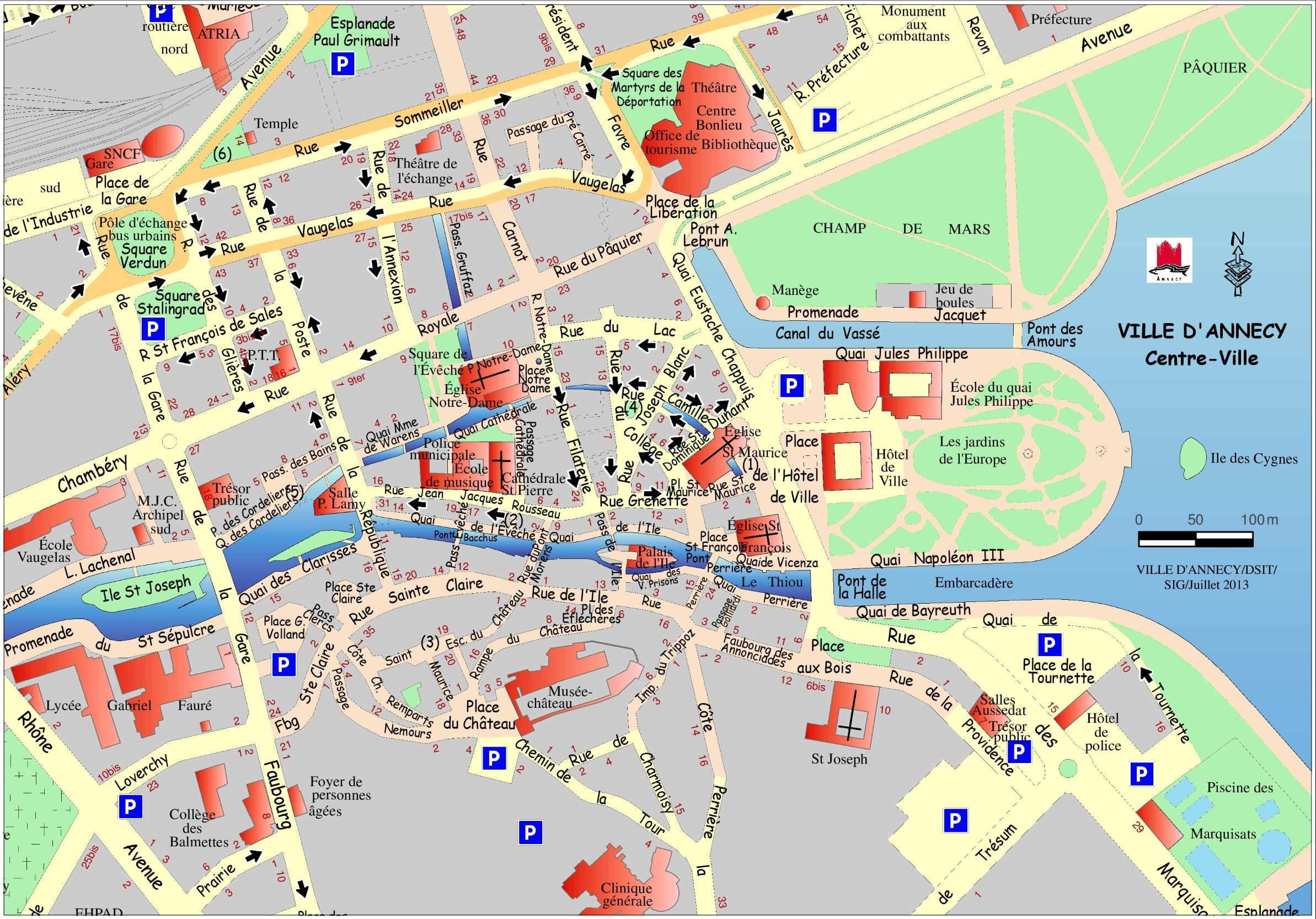Image result for annecy france map City Planning Pinterest