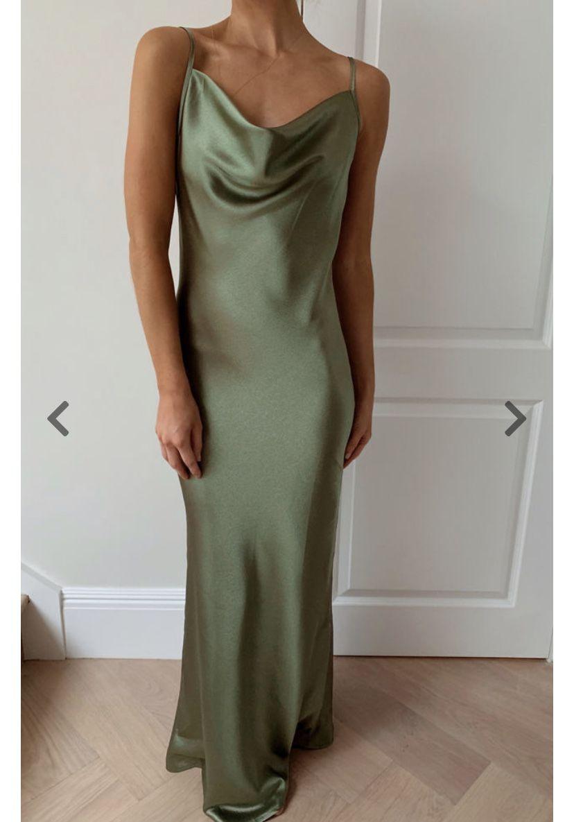 Silk Fred Keisha Bridesmaid Dress In 2020 Olive Green Bridesmaid Dresses Olive Bridesmaid Dresses Green Wedding Dresses