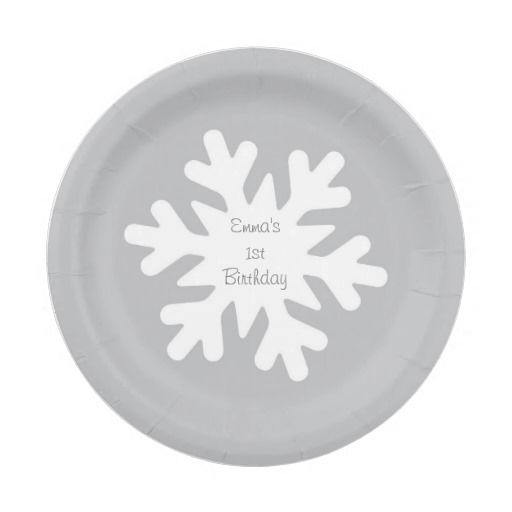 Snowflake Personalized Paper Plates 7 Inch Paper Plate  sc 1 st  Pinterest & Snowflake Personalized Paper Plates