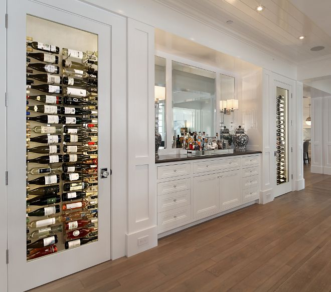 Built in wine cellar. The two temperature controlled wine closets and the built-in buffet were custom designed for this home. Built in wine cellar. & Built in wine cellar. The two temperature controlled wine closets ...