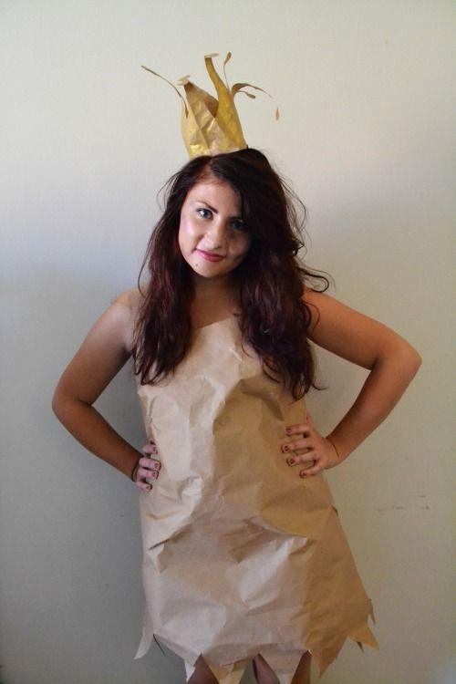Protect your environment! We love this recycling idea for Halloween 2014. Let's be a cute Paper bag Princess! #paperbagprincesscostume