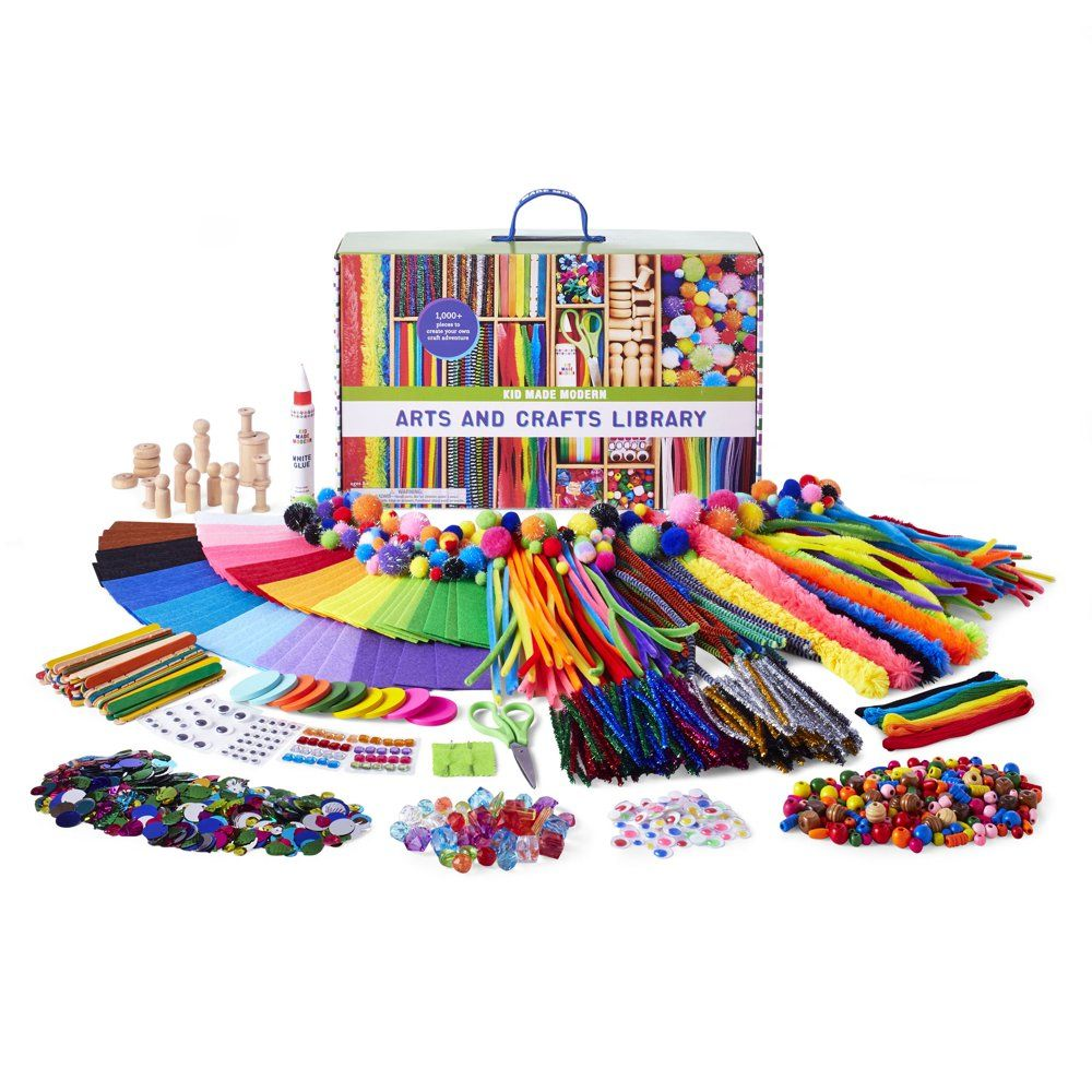 Kid Made Modern Arts And Crafts Library Craft Set For Kids Ages 6 And Up Walmart Com In 2021 Arts And Crafts For Kids Arts And Crafts Supplies Arts And Crafts