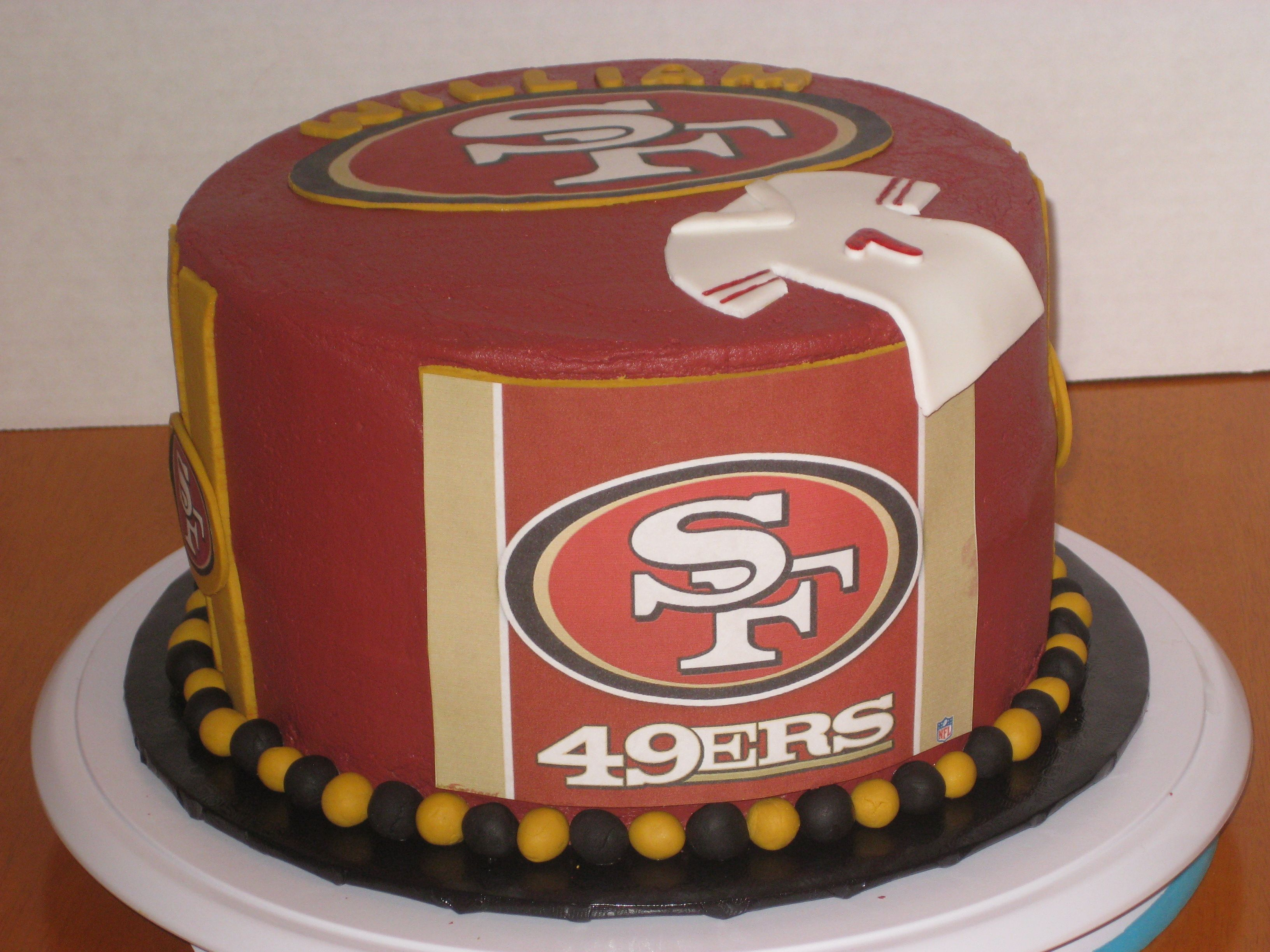 49ers Cake With Backup Quarterback 7 Jersey 49ers Cake San