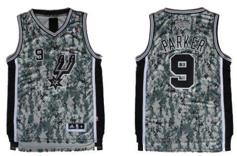 cde42457c San Antonio Spurs  9 Tony Parker Revolution 30 Swingman Camo Jersey ...