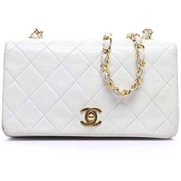 2a73450f6c7e89 Pre-owned Chanel Mini Full Flap Bag (1 750 AUD) ❤ liked on Polyvore  featuring bags, handbags, chanel, purses, bolsa, white, chanel handbags,  vintage change ...