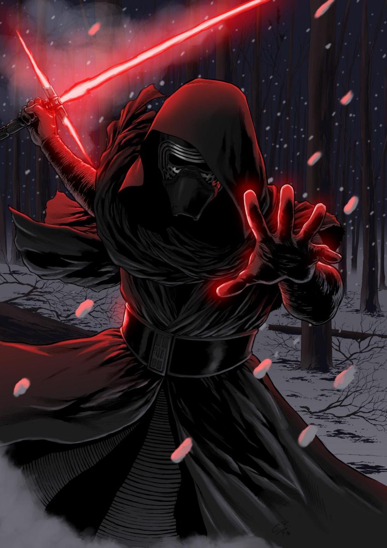 Star Wars The Force Awakens Kylo Ren By Hitokirisan On Deviantart Star Wars Painting Ren Star Wars Star Wars Images