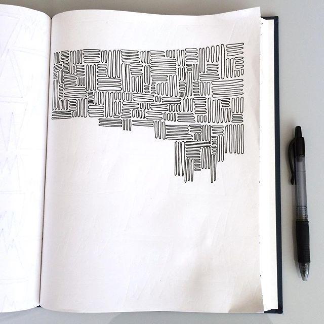 A super time intensive sketchbook pattern drawing!