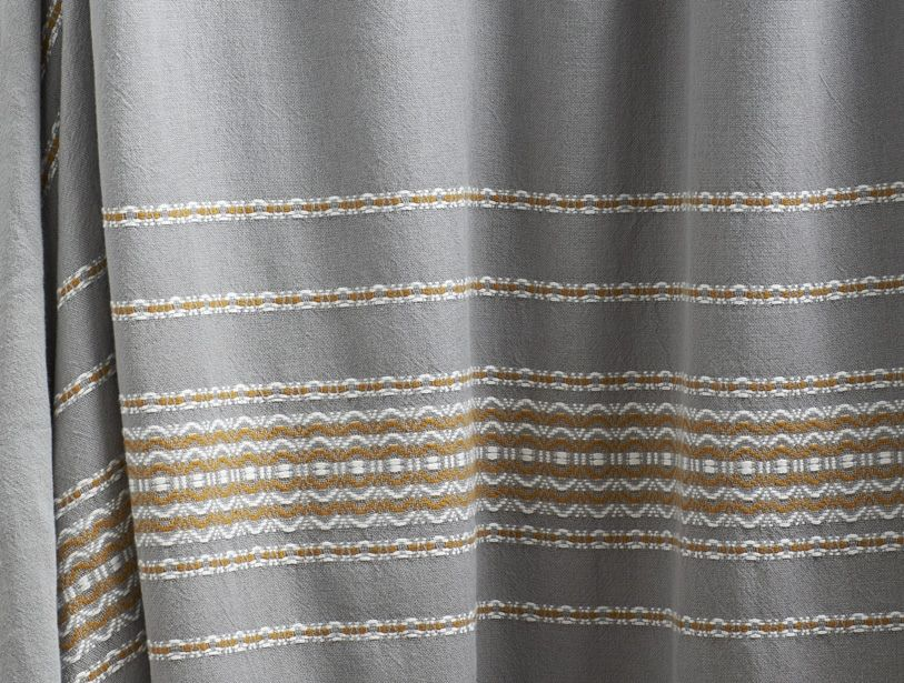 Rippled Stripe Shower Curtain Coyuchi Striped Shower Curtains