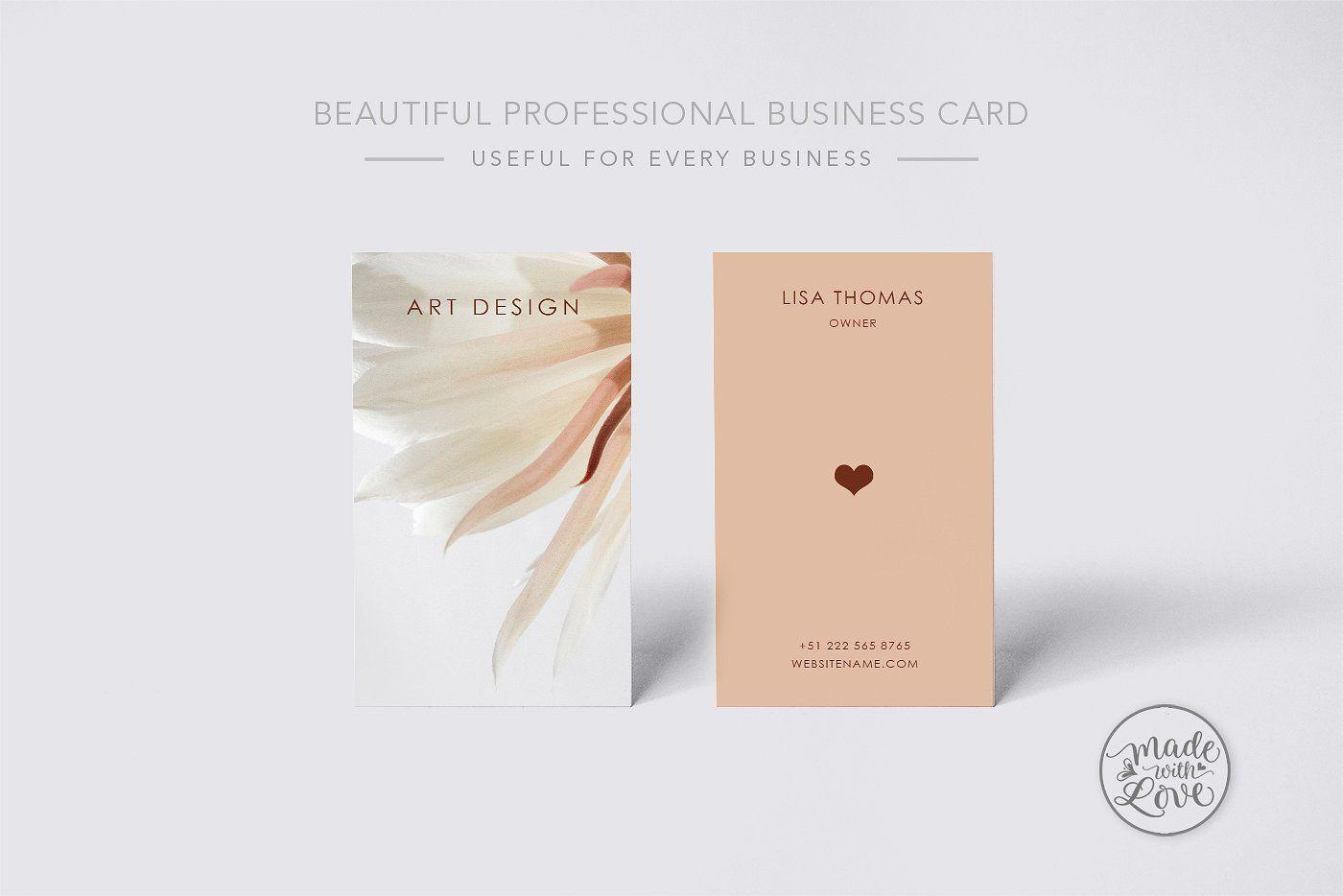 Beautiful Creative Art Business Card Reflection Business