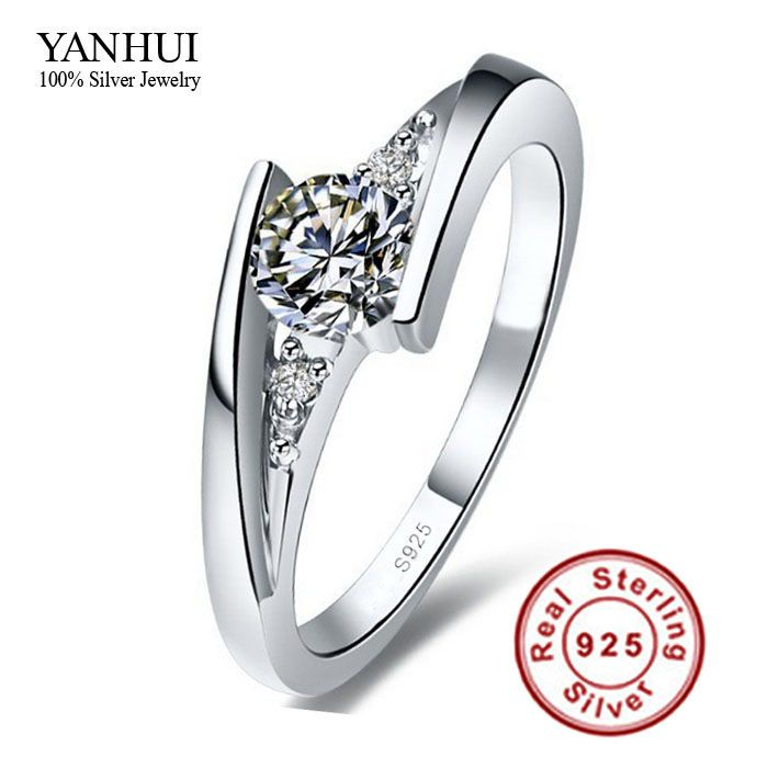 Rings Sent Certificate Of Silver Pure 925 Sterling Ring Set Luxury Carat Cz Diamond Wedding For Women Find Out More By Clicking The Visit