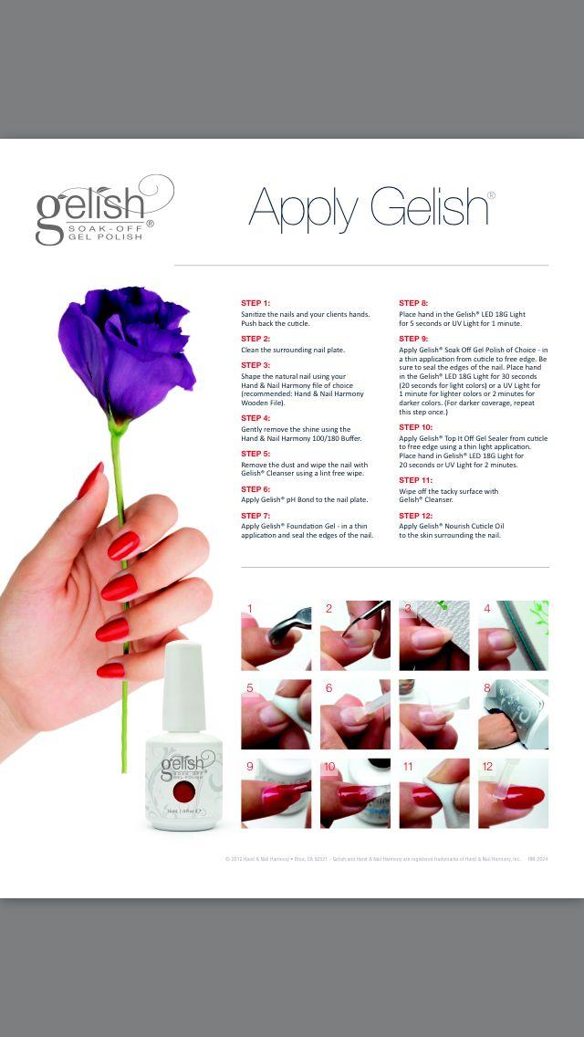 How To Apply Gelish Nail Polish Gel Nails Diy Gelish Nails Gelish Nail Polish