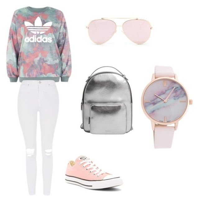 Outgoing ☔⭐ by davionnadanc on Polyvore featuring polyvore adidas Topshop Converse MANGO fashion style clothing