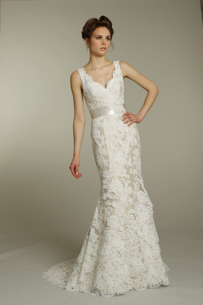 Romantic V-Neck Rustic Wedding Dress Ideas: Alvina Valenta Wedding ...
