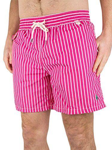 f138cd658a66a POLO RALPH LAUREN Polo Ralph Lauren Striped Traveller Men'S Swim Shorts,  Pink/White. #poloralphlauren #cloth #