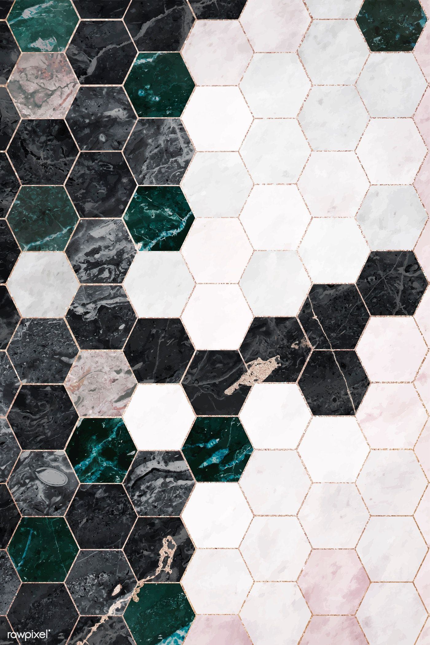 Hexagon Marble Tiles Patterned Background Vector Free Image By Rawpixel Com Fon In 2020 Vector Background Pattern Background Patterns Tile Patterns