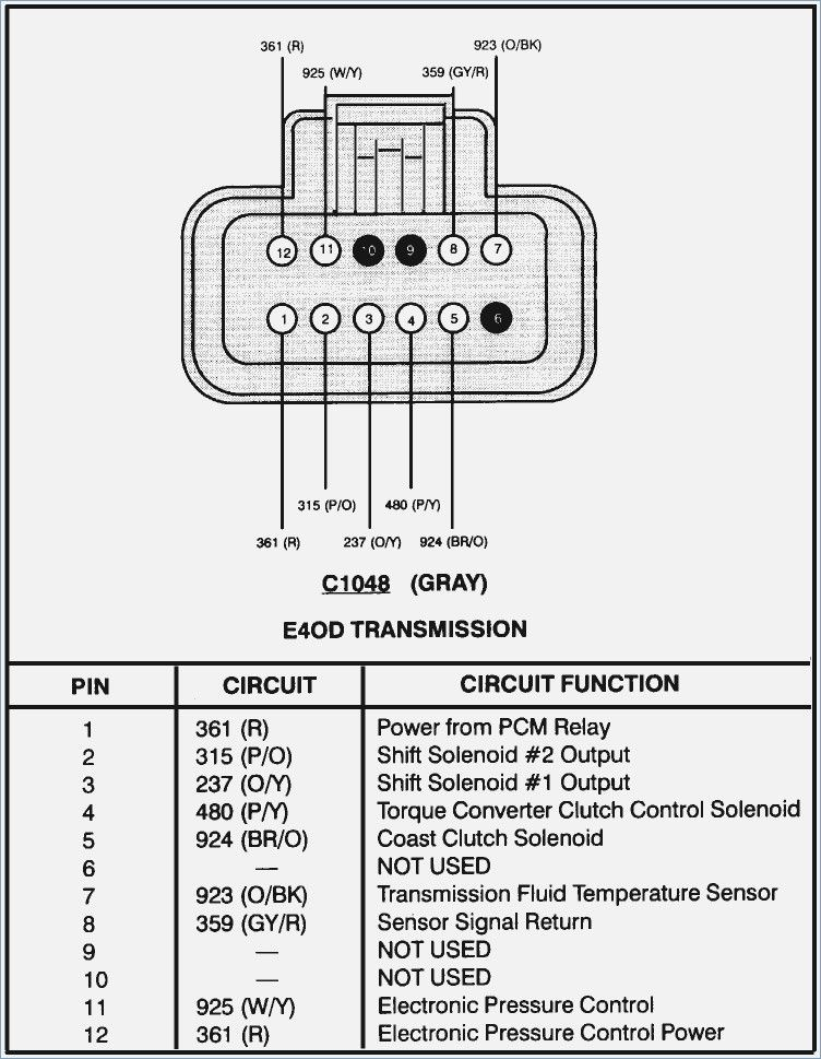 Ford E4od Transmission Diagram - Wiring Diagram Sys