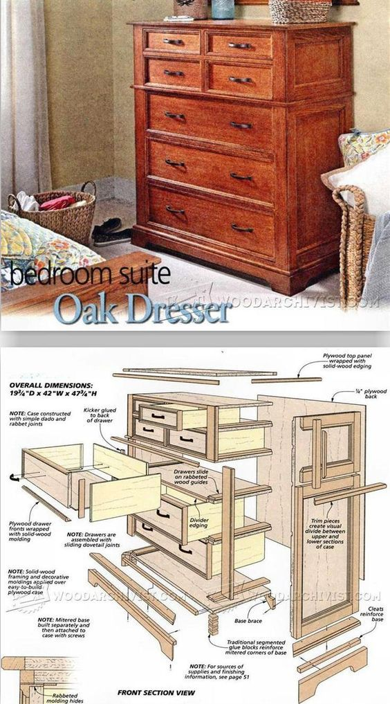 Oak Dresser Plans Furniture Plans And Projects Woodarchivist Com Woodworking Furniture Plans Woodworking Projects Furniture Dresser Plans