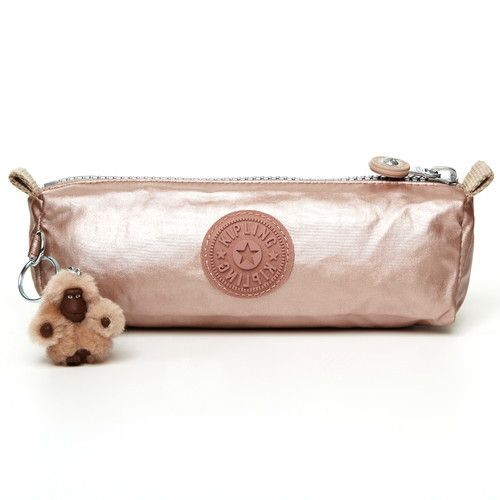 c2980fe7a Gorgeous!! Kipling Freedom Metallic Pen/Comestic Case in Rose Gold ...