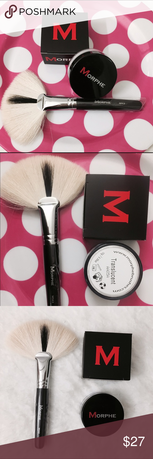 Morphe X2 Translucent Powder Fan Brush M143 Translucent Powder Fan Brush Translucent Save money online with morphe deals, sales, and discounts july 2020. pinterest