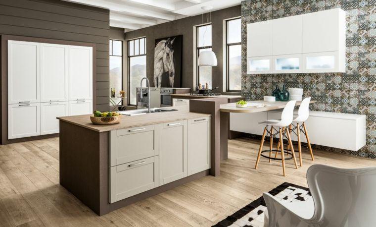 arredo-per-cucine-in-muratura-moderne-bianche-struttura-color ...
