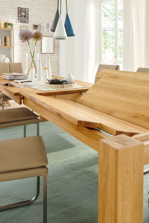 Ein Massivholztisch, der sich um Handumdrehen verlängern lässt - esstische aus massivholz ideen
