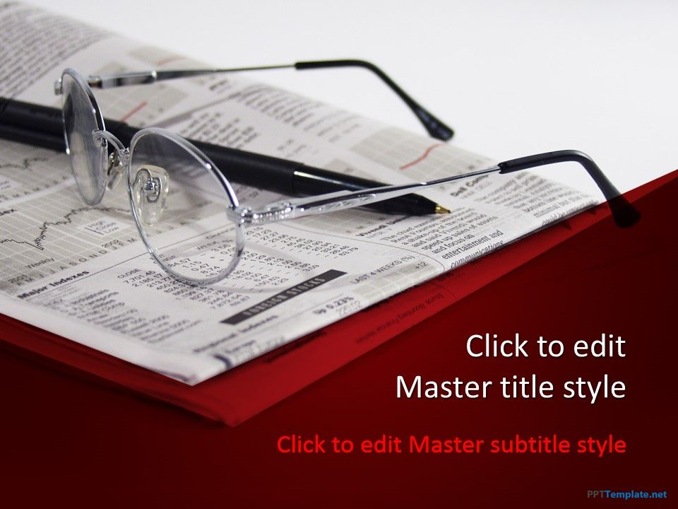 free-financial-news-ppt-template is one of the most, Modern powerpoint