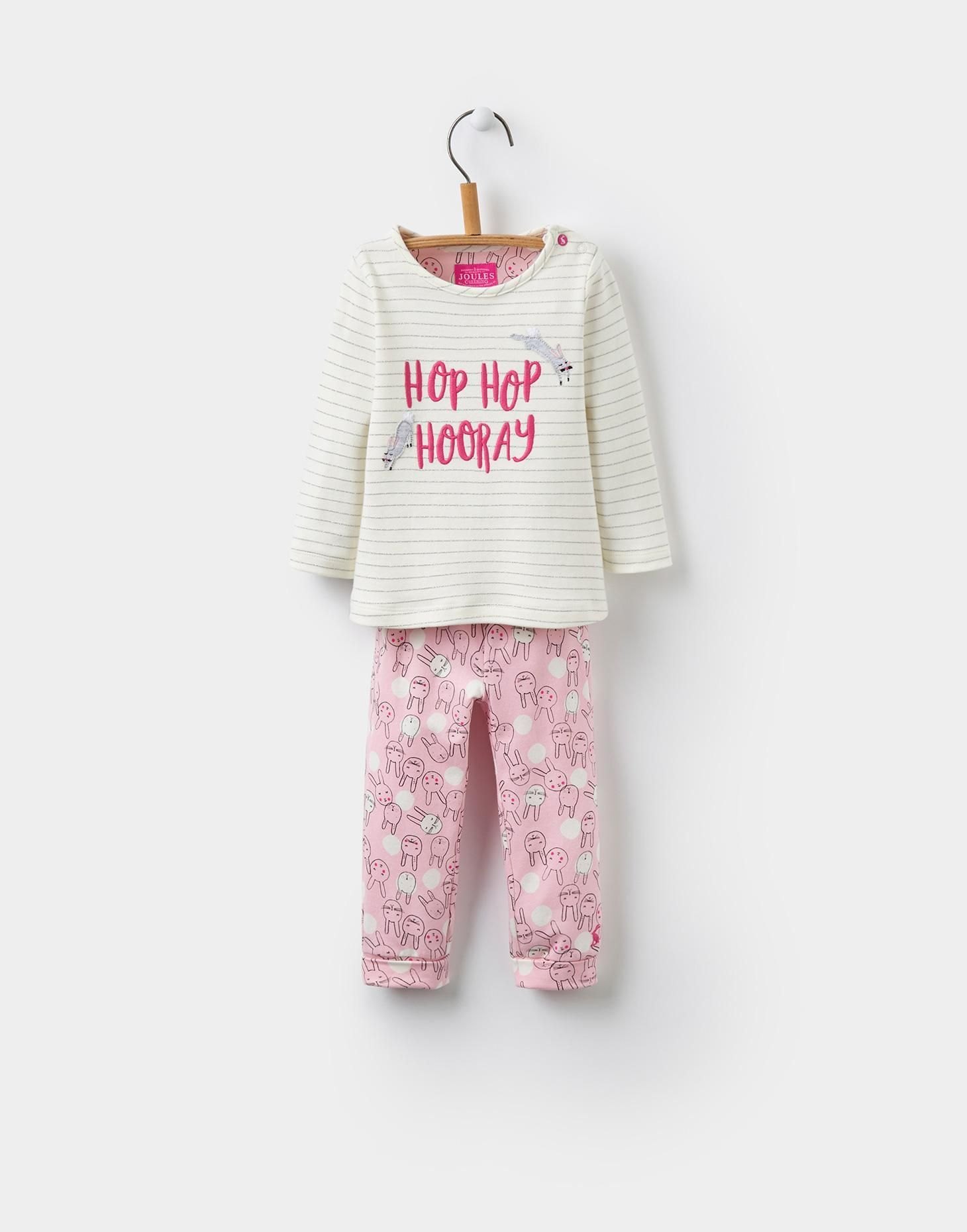 55d3bf24f267 Poppy Stripe Bunny Top and Bottoms Set
