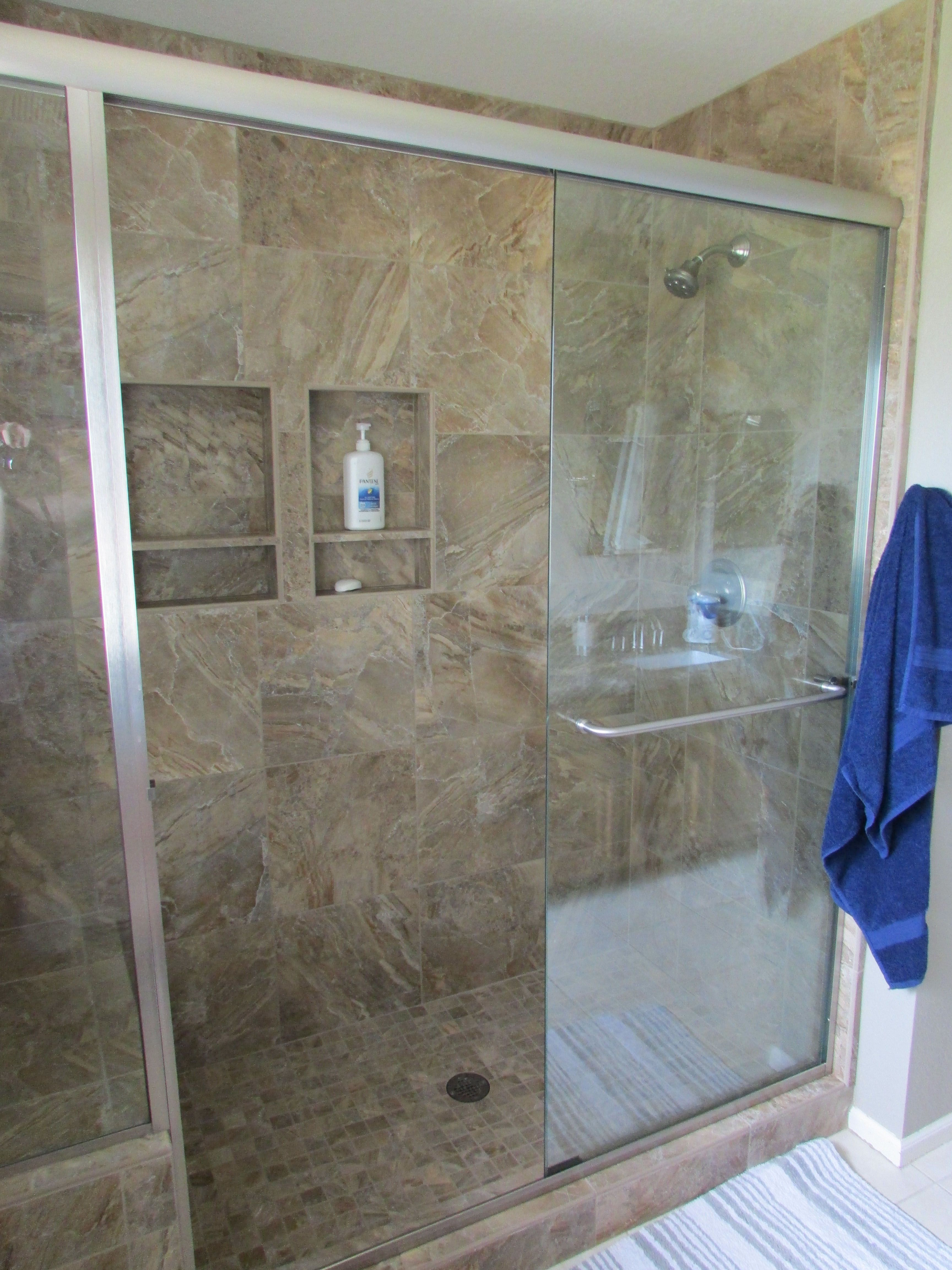 Hall Bath Shower Surround With Bench Seat And Sliding