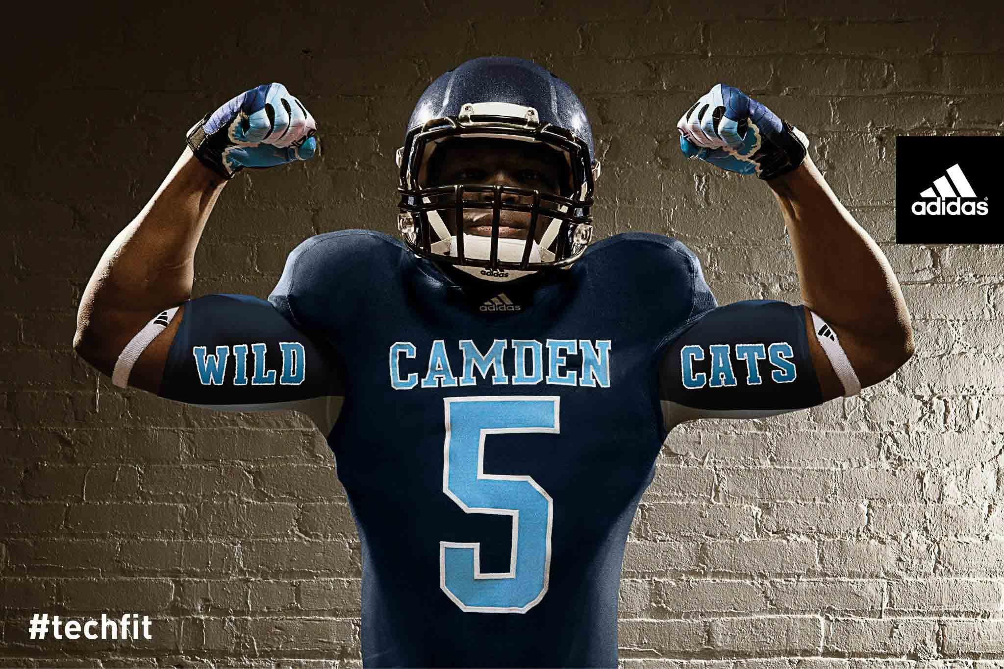 cdfb951a21d1 Camden County High School adidas techfit new football uniforms 10 ...