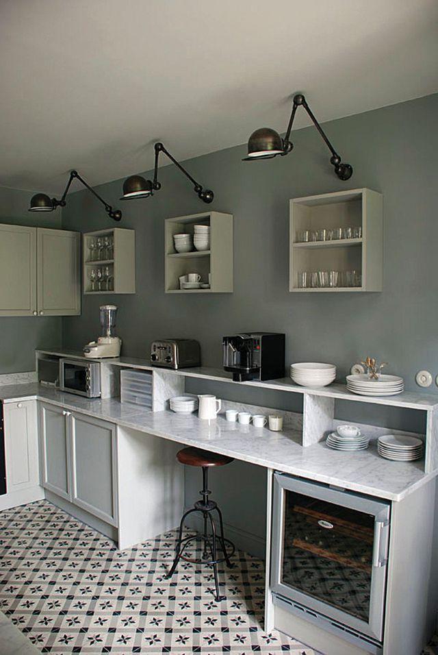 Sol cuisine  carrelage, parquet et revêtement déco Kitchens - peindre du carrelage de sol