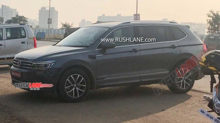 Vw Tiguan Xl Spied In India Again To Be Launched In 2020 Vw Passat Suv Models Volkswagen