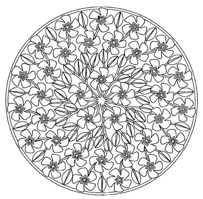 Kleurplaten Mandala Lente.Kleuren Voor Volwassenen Lente Nieuw Mandala Kleurplaten