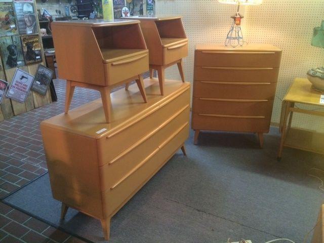vintage heywood wakefield bedroom furniture set encore complete with night sculptura