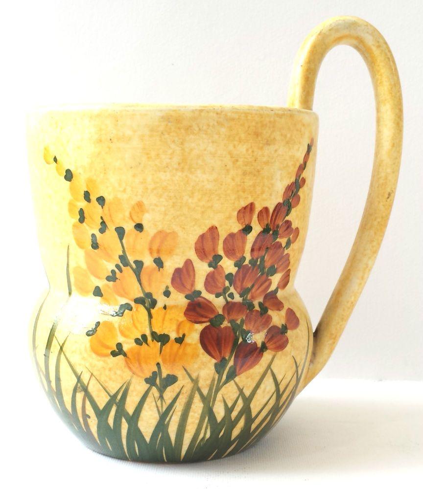 Vintage radford pottery art deco jug vase hand panted floral vintage radford pottery art deco jug vase hand panted floral yellow orange 1930s reviewsmspy