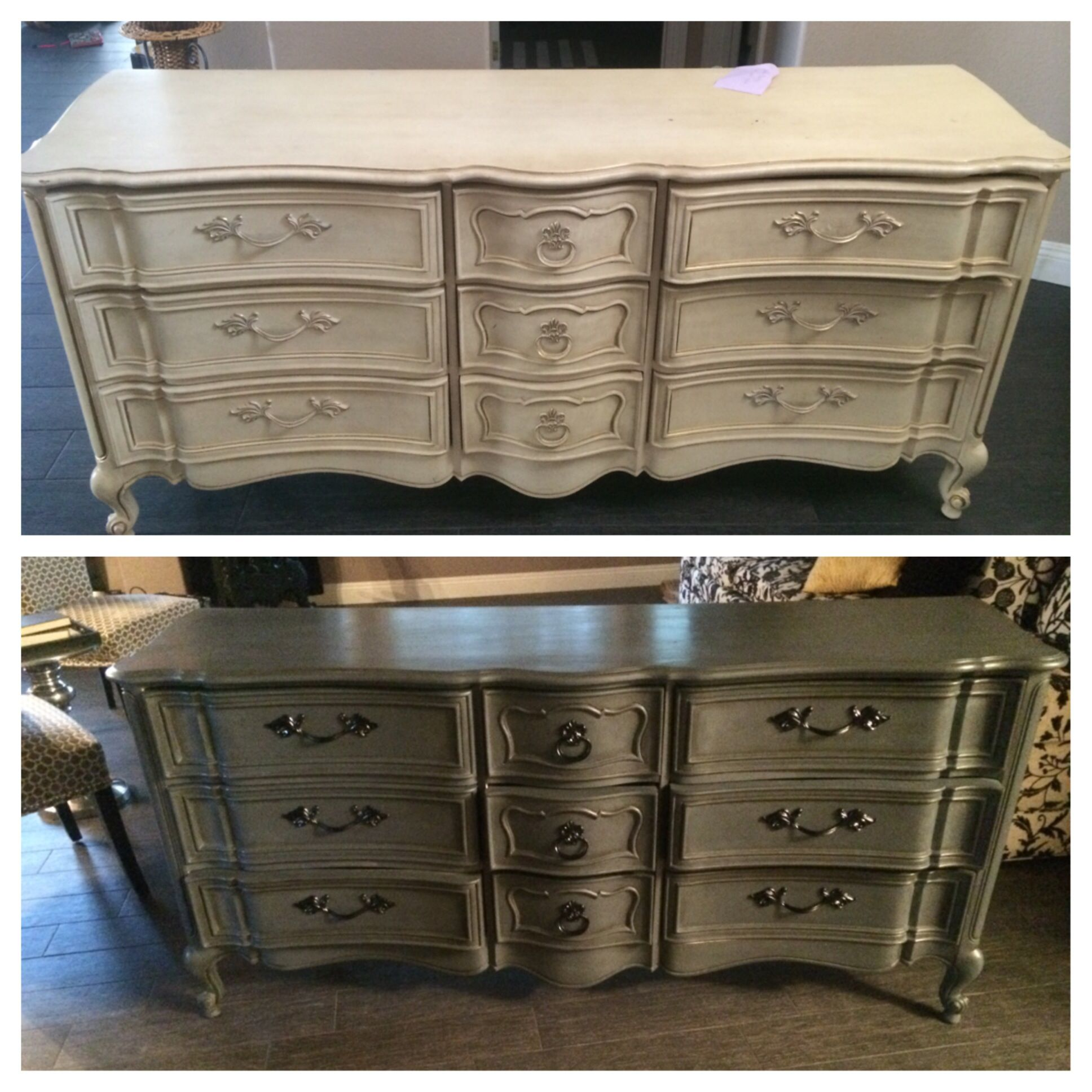 Michael s chalk paint in Relic $8 99 Covered with Annie Sloan