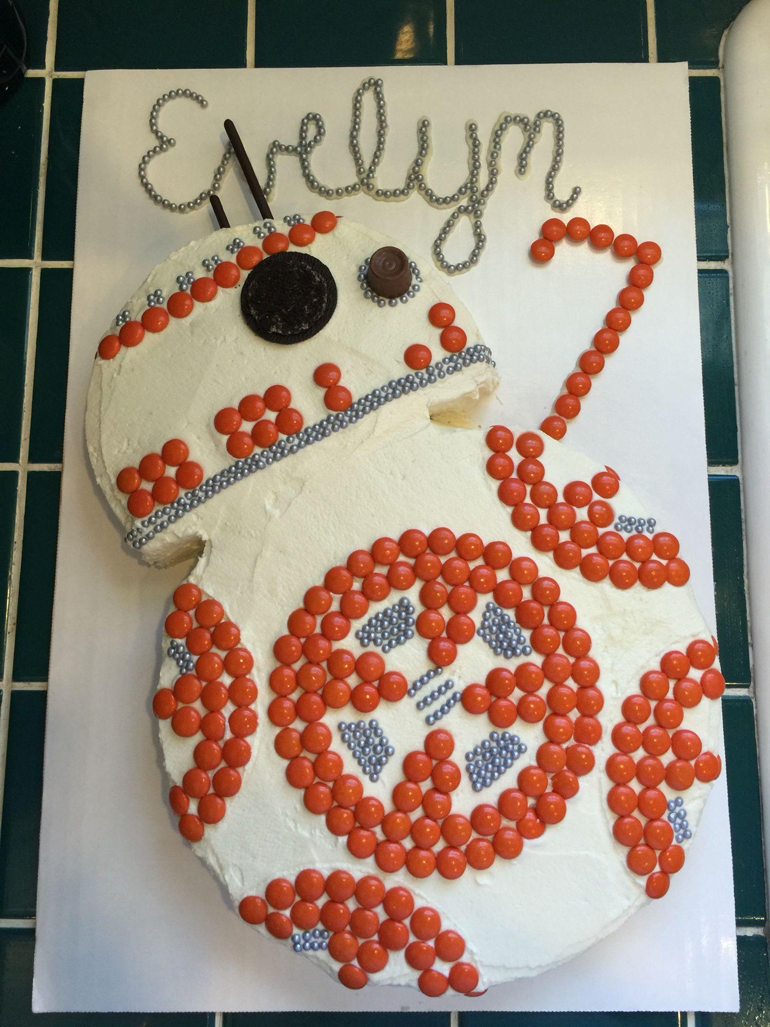 BB8 Birthday Cake Star Wars DIY More