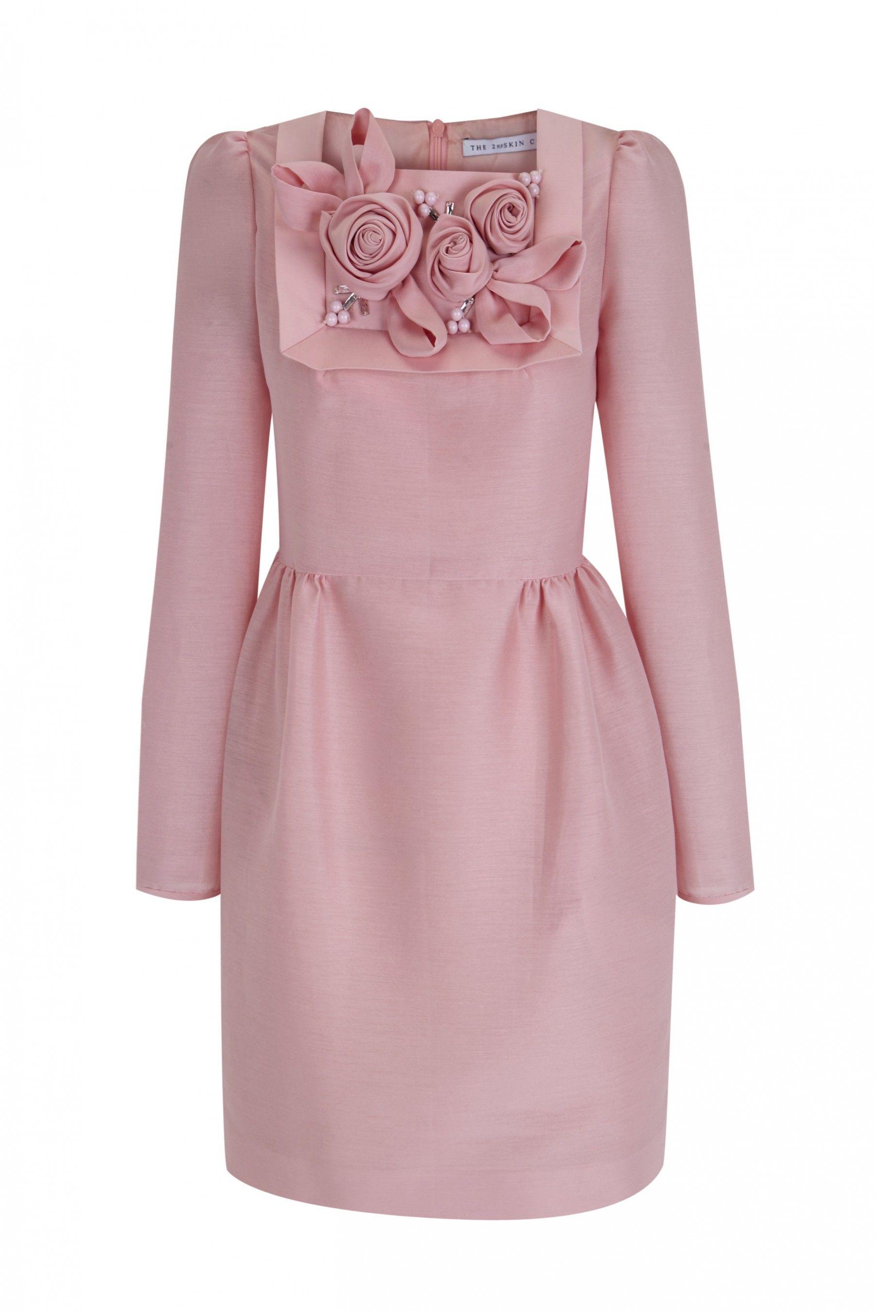 Minivestido rosa con flores y cristales | vestidos | Pinterest ...