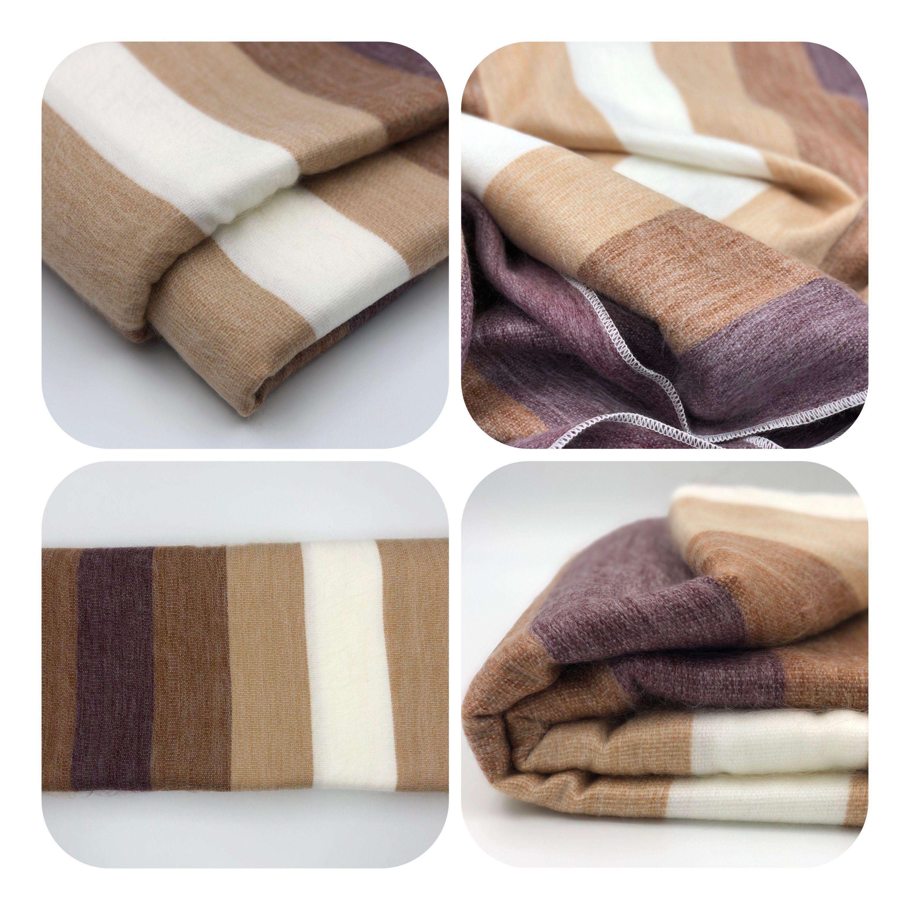 Soft Warm Striped Alpaca Llama Wool Blanket Plaid 90 X65 Queen Alpaca Blanket Alpaca Wool Blanket Wool Blanket