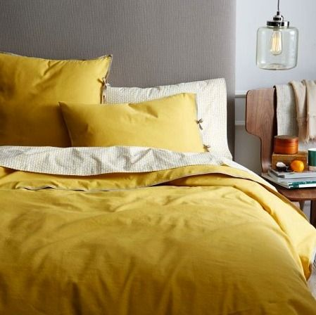 Perfect For Summertime Sleeping 5 Sources For Linen Bedding Yellow Bedding Bed Linen Design Yellow Duvet