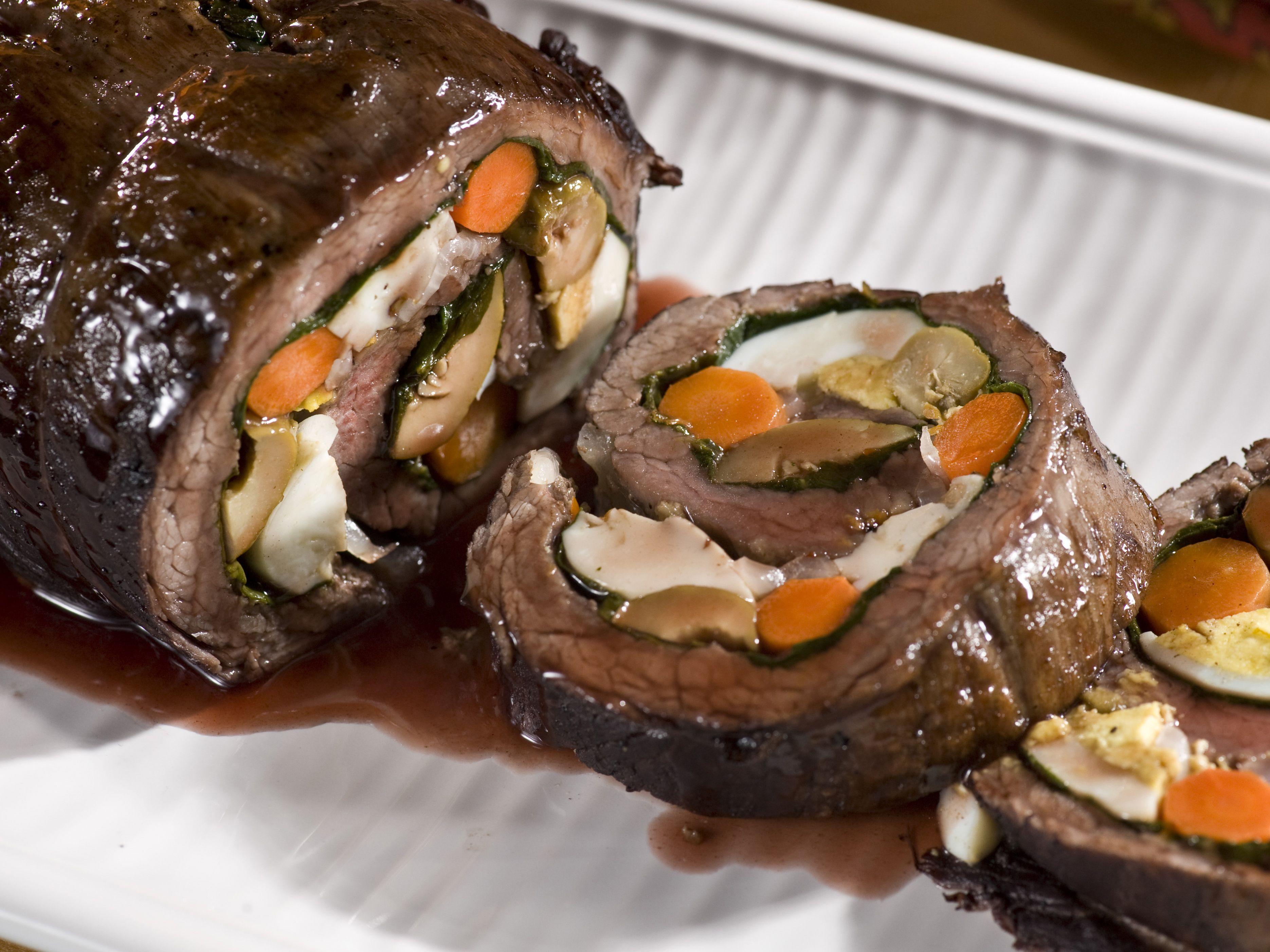 Argentine Stuffed Flank Steak Matambre Recipe Food