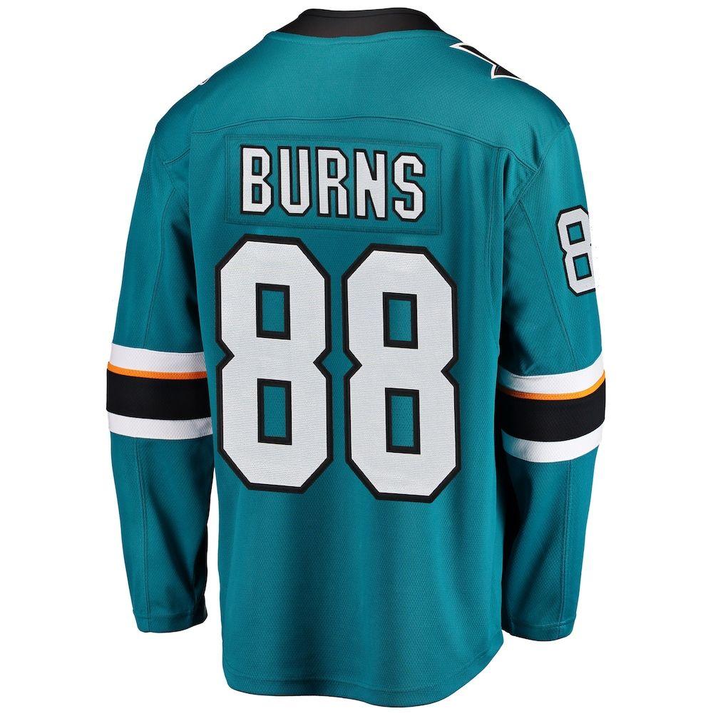 best website 4128b 52919 Men's Fanatics San Jose Sharks Brent Burns Jersey, Size ...
