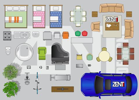 Furniture Floor Plan  Vector Premium  Zent Design D  Floor