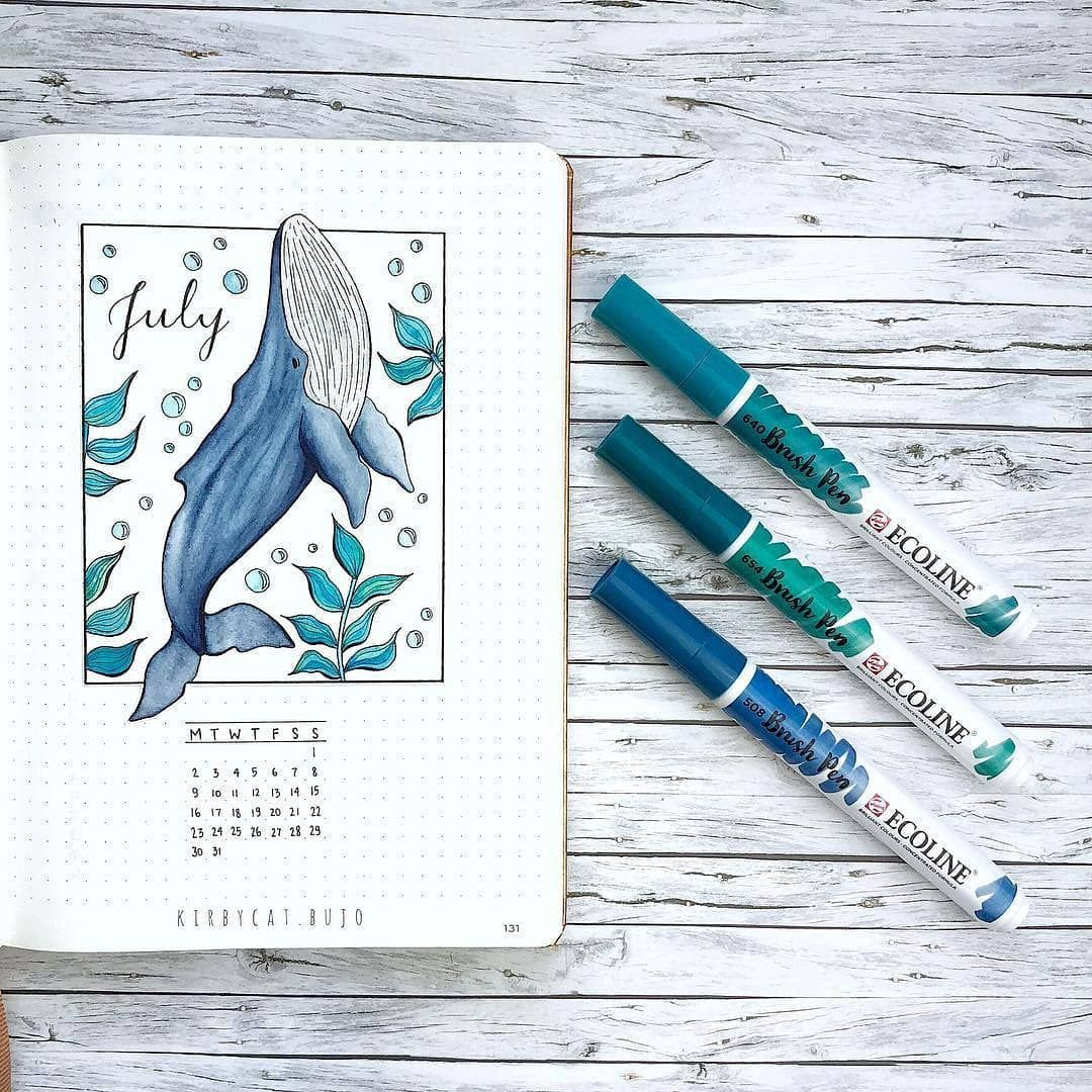 51 Amazing Ocean Bullet Journal layouts to delight YOU! | My Inner Creative