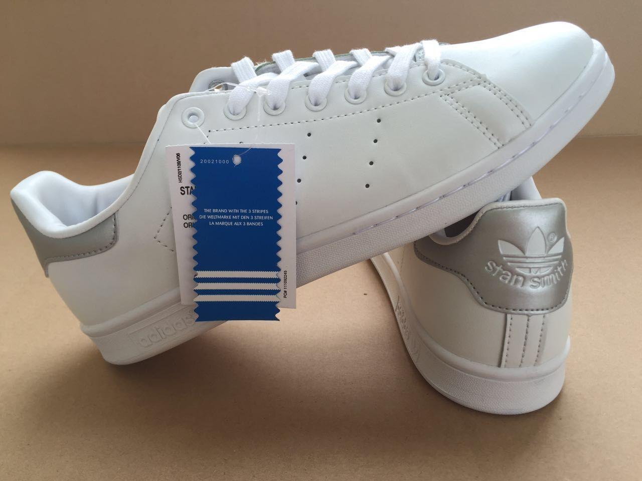e6146883bee President Adidas Originals Stan Smith White Silver Finish OnSale! Line