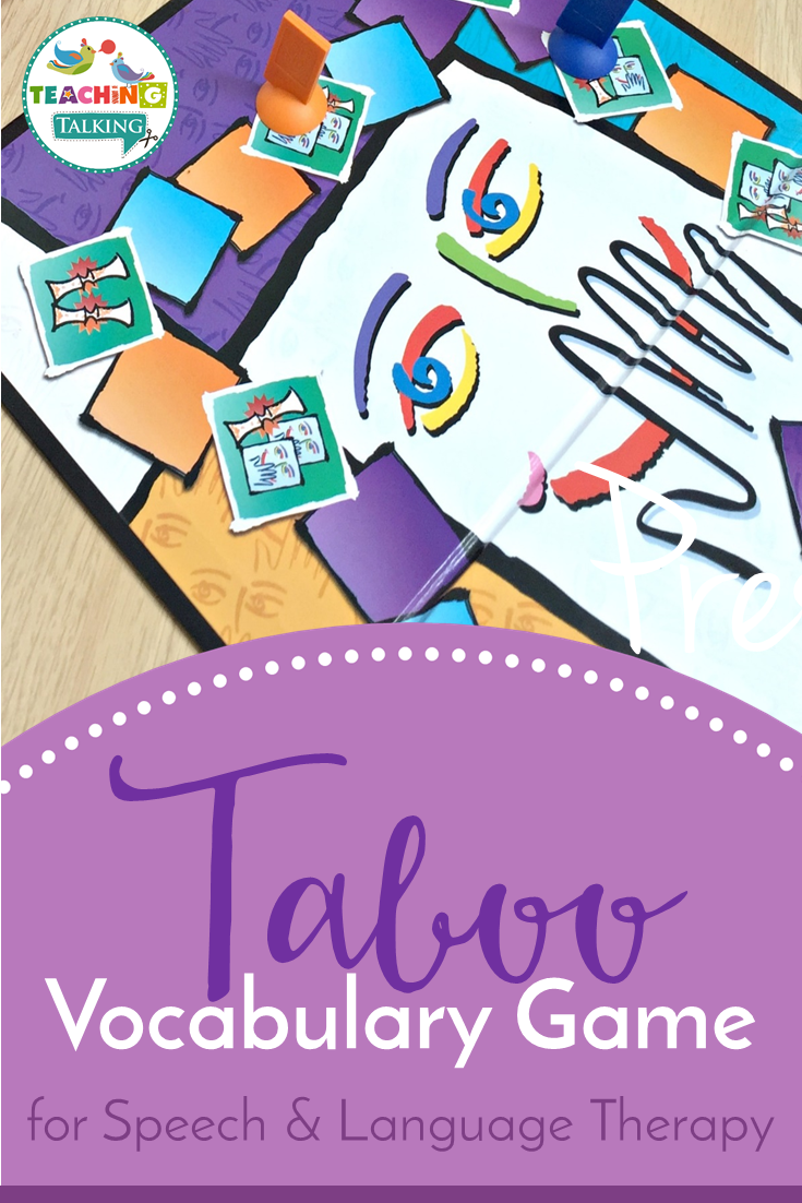 Using The Taboo Game For Speech Therapy  Slp  Speech -5391
